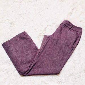 Purple dress pants New York and company